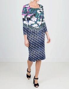 Mary Katrantzou Blue Cloud Print Jersey Dress.